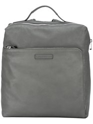Emporio Armani Large Backpack Grey