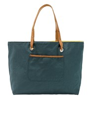 White Stuff Morgan Reversible Canvas Tote Green