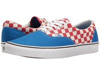 Vans Era Two Tone Check Imperial Blue True White Skate Shoes