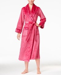Charter Club Super Soft Texture Trimmed Long Robe Only At Macy's Winter Ruby