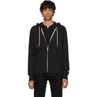 Rag And Bone Black Classic Zip Hoodie