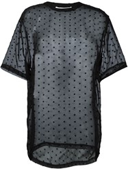 Givenchy Star Embroidered Sheer T Shirt Black
