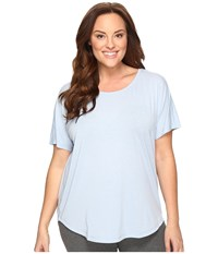 Lucy Extended Final Rep Short Sleeve Top Blue Fog Women's Short Sleeve Pullover