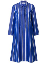 Odeeh Striped Shirt Dress Blue
