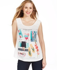 Style And Co. Graphic Print Tank Top