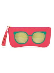 Sarah Chofakian Leather Sunglasses Case Pink And Purple