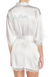 Women's In Bloom By Jonquil 'The Bride' Satin Robe