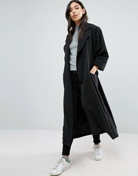 Cooper And Stollbrand The Duster Coat Black Purple