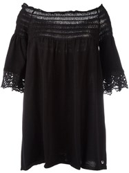Twin Set Off Shoulder Blouse Black