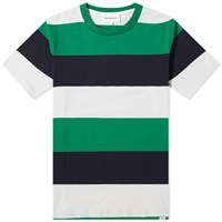 Norse Projects Johannes Border Stripe Tee Green