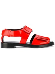 3.1 Phillip Lim Strapped Sandals Women Leather 38 Red