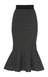 Dolce And Gabbana Polka Dot Flared Skirt Black