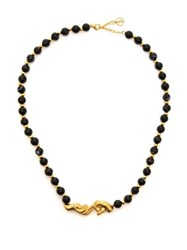Anissa Kermiche Les Mains Gold Plated And Onyx Necklace Black