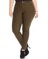Style And Co. Plus Size Skinny Jeggings Evening Olive