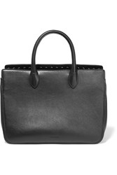 Jil Sander Small Studded Leather Tote Black