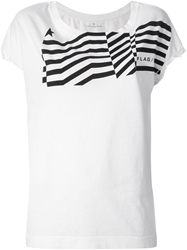 Golden Goose Deluxe Brand 'Flag' T Shirt White
