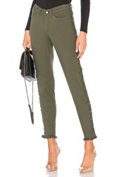 Chaser Vintage Canvas Lace Up Frayed Utility Pant Army