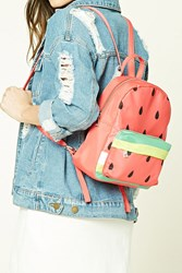 Forever 21 Watermelon Mini Backpack Pink Multi
