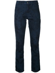 Marc Cain Slim Printed Jeans Blue