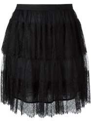 Red Valentino Layered Tulle Skirt Blue