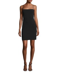 Elizabeth And James Caressa Square Neck Sleeveless Fitted Cocktail Dress Black