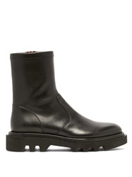 Givenchy Leather Tread Sole Combat Boots Black