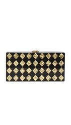 Milly Diamond Box Clutch Multi