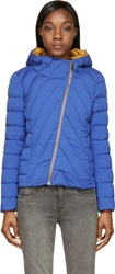 Colmar Blue Down Padded Offset Zip Hooded Jacket
