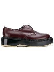 Undercover Platform Oxford Shoes Red