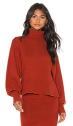 Marissa Webb Sloane Turtleneck Pullover In Orange. Paprika