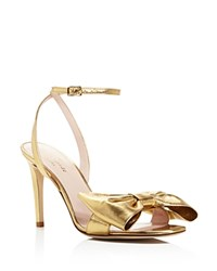 Kate Spade New York Idella Bow Ankle Strap Sandals Gold