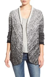 Women's Velvet By Graham And Spencer Ombre Open Cotton Cardigan