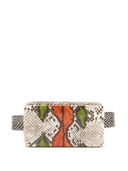 Lutz Morris Evan Snake Effect Leather Belt Bag Multi