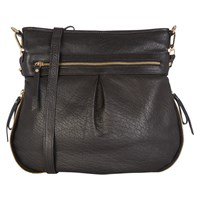 Oasis Leather Tandy Cross Body Bag Black