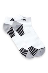 Adidas Climalite Compression Low Cut Socks Pack Of 2 White