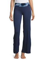 Candc California Solid Flared Pants Blue