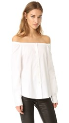 Theory Auriana Off The Shoulder Top White