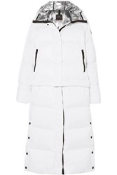 Bogner Fire And Ice Bia Convertible Hooded Quilted Down Ski Jacket White