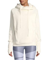 Alo Yoga Frost Sherpa Hooded Pullover Sweatshirt Off White