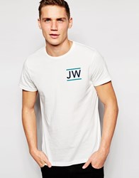 Jack Wills T Shirt With Jack Wills Logo White