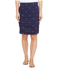 Hatley Ruched Skirt Fade Out Chevron Women's Skirt Blue