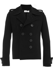 Wales Bonner Double Breasted Short Coat Black