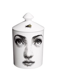 Fornasetti L'ape Otto Scented Candle With Lid White Black