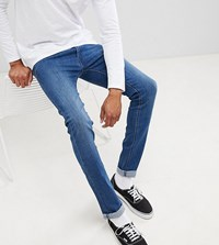Lee Tall Luke Skinny Jeans In Average Joe Wash Average Joe Blue