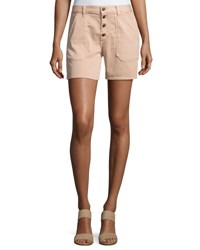 Ba And Sh Cmira High Rise Slim Fit Shorts Makeup Nude