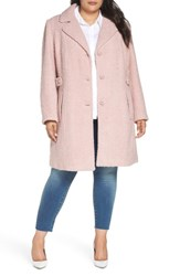 Gallery Plus Size Boucle Coat Rose Pink