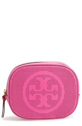 Tory Burch Perforated Leather Cosmetics Case