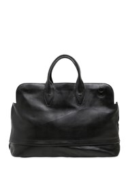 Officine Creative Brushed Leather Duffle Bag Black
