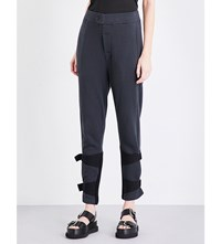 Ann Demeulemeester Rodger Tapered Cotton Jersey Jogging Bottoms Black