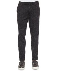 Vince Speckled Moto Sweatpants Black